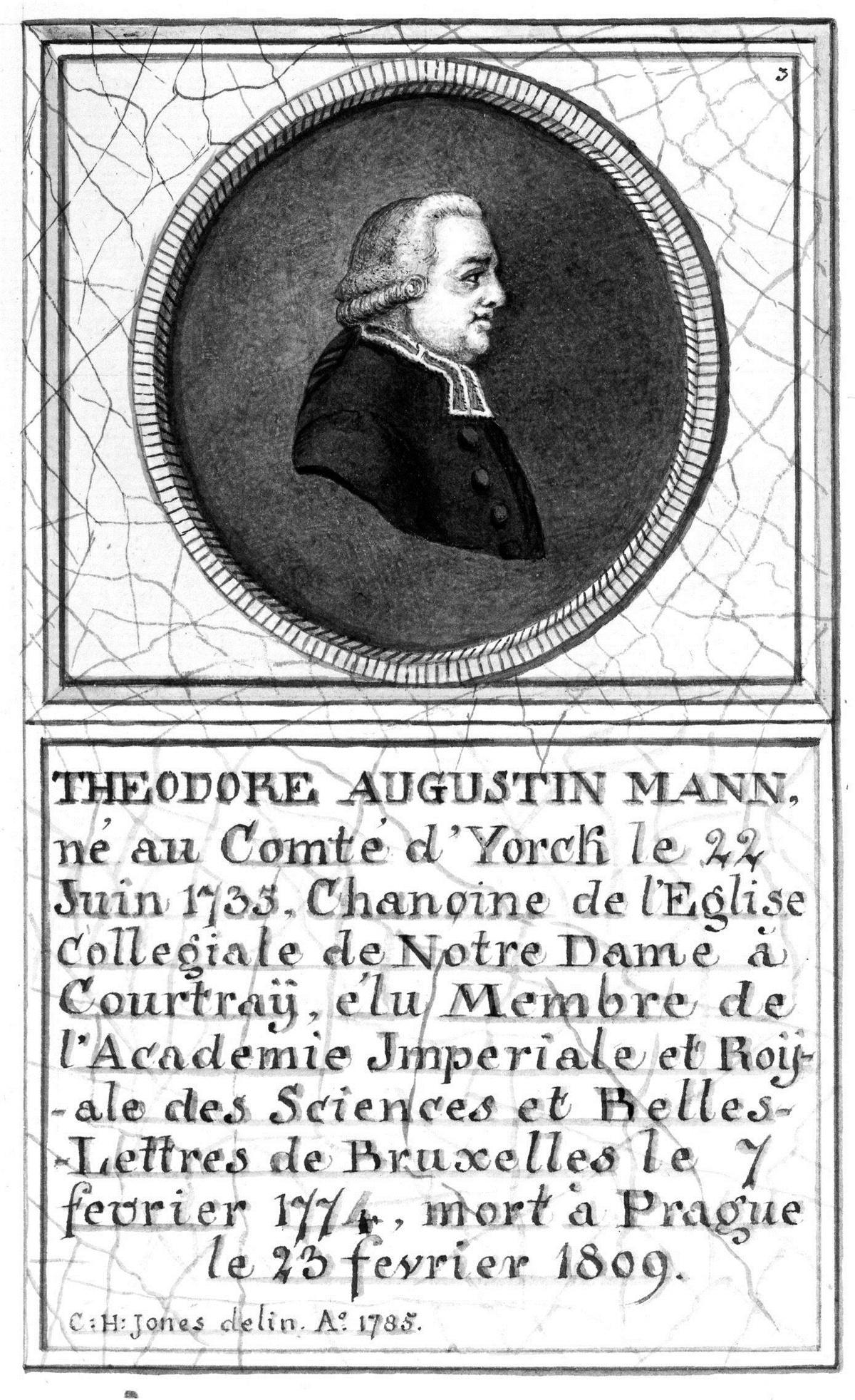 Théodore-Augustin Mann, prieur du couvent des Chartreux à Nieuport.