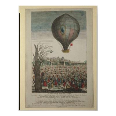"""Het opstijgen van de ballon """"La Fréselle"""" op 19 januari 1784"""