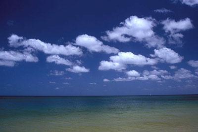 Les cumulus humilis sont aussi appelés « nuages de beau temps ».
