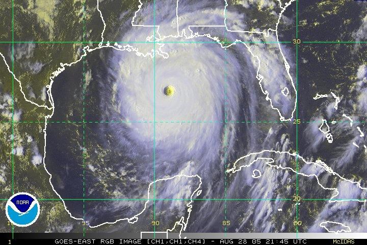 De beruchte orkaan Katrina was tijdelijk categorie 5 en kwam aan land als categorie 4. Ondermeer in