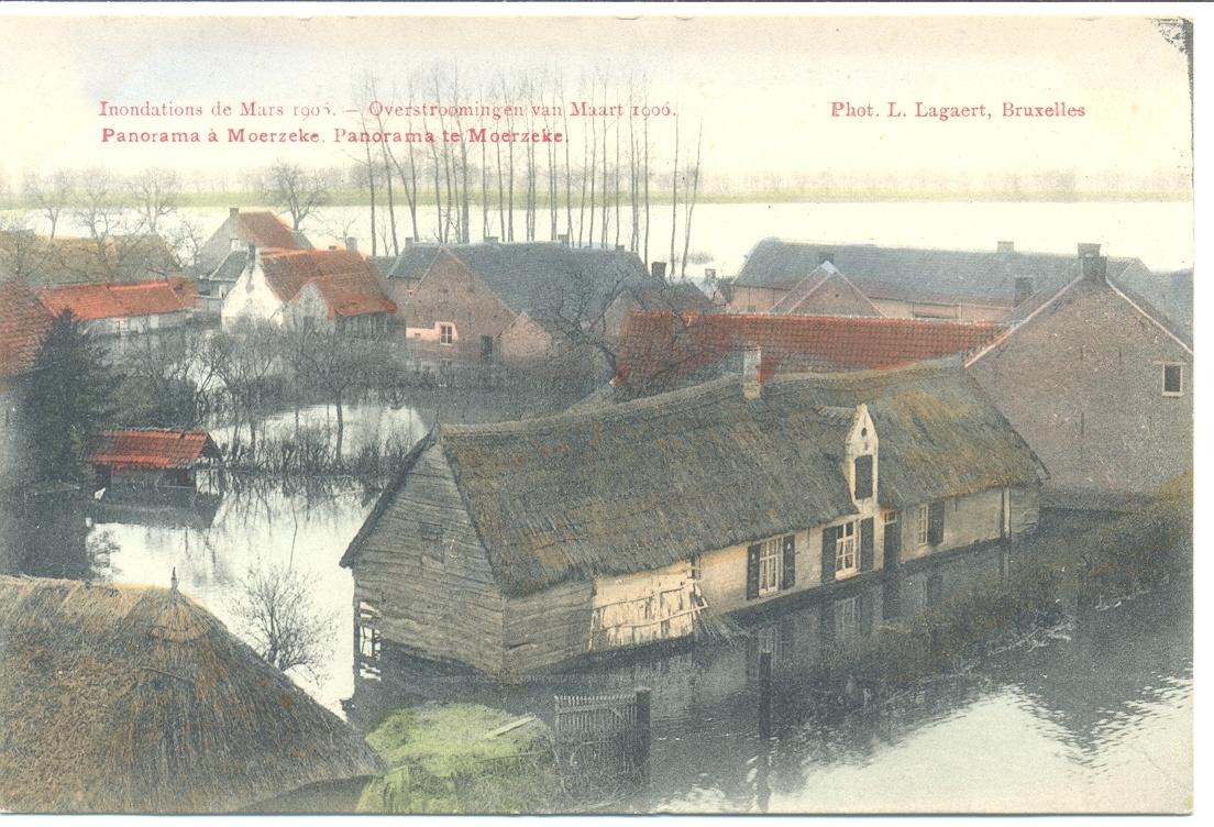 Les inondations de mars 1906 - panorama à Moerzeke