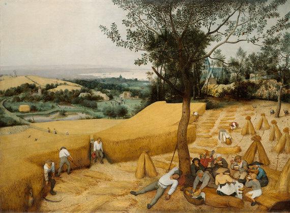 La Moisson_Pierre Bruegel l'ancien 1565, huile sur bois, 119x419, Institut de l'Art canadien.